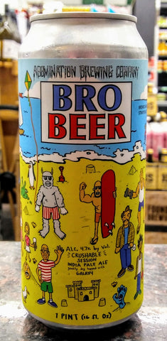 ABOMINATION BREWING CO. BRO BEER SESSION IPA 16oz can