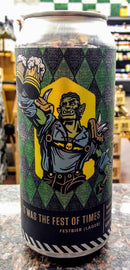 BOTTLE LOGIC BREWING IT WAS THE FEST OF TIMES LAGER 16oz can
