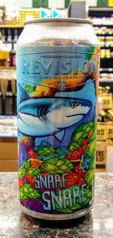 REVISION BREWING CO. SNARF SNARF NE HAZY DOUBLE IPA 16oz can