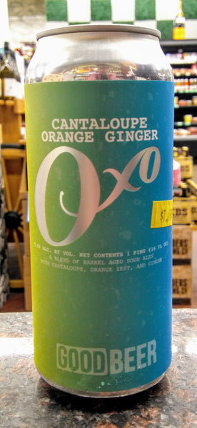 THE GOOD BEER CO. OXO CANTALOUPE ORANGE GINGER BARREL AGED SOUR ALE 16oz can