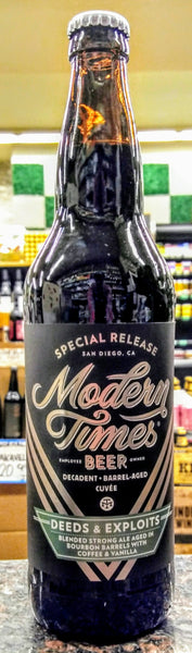 MODERN TIMES BEER SPECIAL RELEASE DEEDS AND EXPLOITS BARREL AGED CUVÉE 750ml