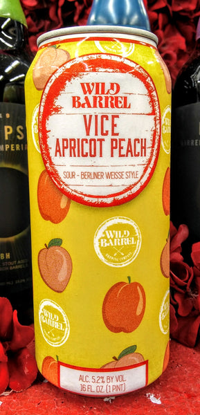 WILD BARREL BREWING CO. VICE APRICOT PEACH SOUR ALE 16oz can