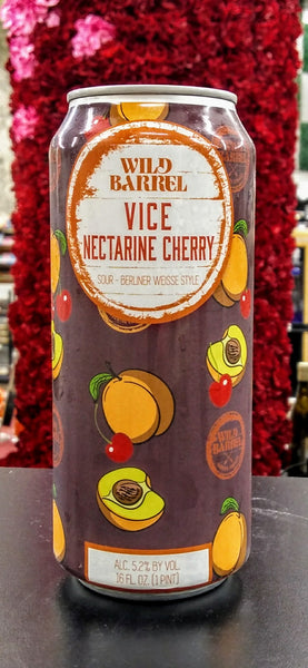 WILD BARREL VICE NECTARINE CHERRY BERLINER WEISSE ALE 16oz can