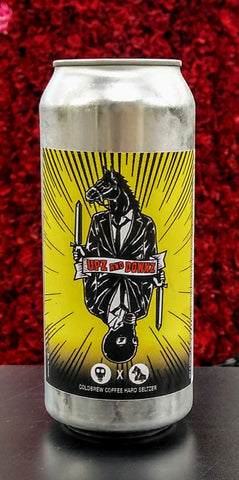 CREATIVE CREATURE BREWING UPZ AND DOWNZ COLDBREW DARK HORSE COFFEE HARD SELTZER 16oz can