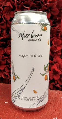 MARLOWE ARTISANAL ALES EAGER TO SHARE AMERICAN PALE ALE 16oz can