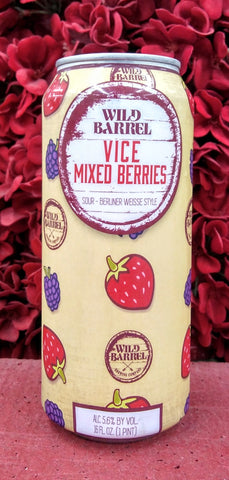 WILD BARREL VICE MIXED BERRIES BERLINER WEISSE SOUR ALE 16oz can