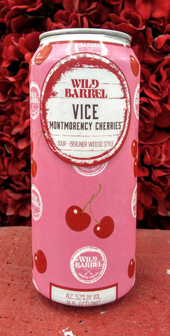 WILD BARREL VICE MONTMORENCY CHERRIES BERLINER WEISSE SOUR ALE 16oz can
