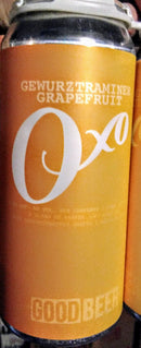 THE GOOD BEER CO. OXO GEWURZTRAMINER GRAPEFRUIT SOUR ALE 16oz can