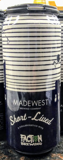 MADEWEST BREWING CO. SHORT-LIVED IPA 16oz can