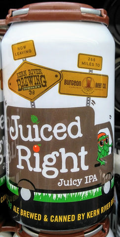 KERN RIVER BREWING JUICED RIGHT JUICY IPA 12oz can