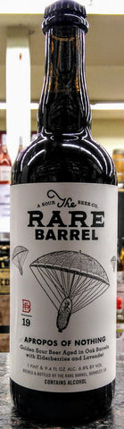 RARE BARREL APROPOS OF NOTHING GOLDEN SOUR BEER 750ml ( LIMIT 1 PER CUSTOMER)