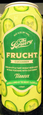 THE BRUERY FRUCHT CUCUMBER BERLIN STYLE TART WHEAT ALE 16oz can