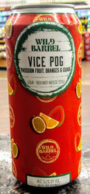 WILD BARREL BREWING CO. VICE POG BERLINER WEISSE SOUR ALE 16oz can