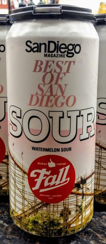 FALL BREWING CO. BEST OF SAN DIEGO WATERMELON SOUR 16oz can