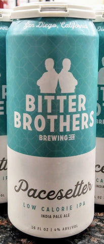 BITTER BROTHERS BREWING CO. PACE SETTER LOW CALORIE IPA 16oz can