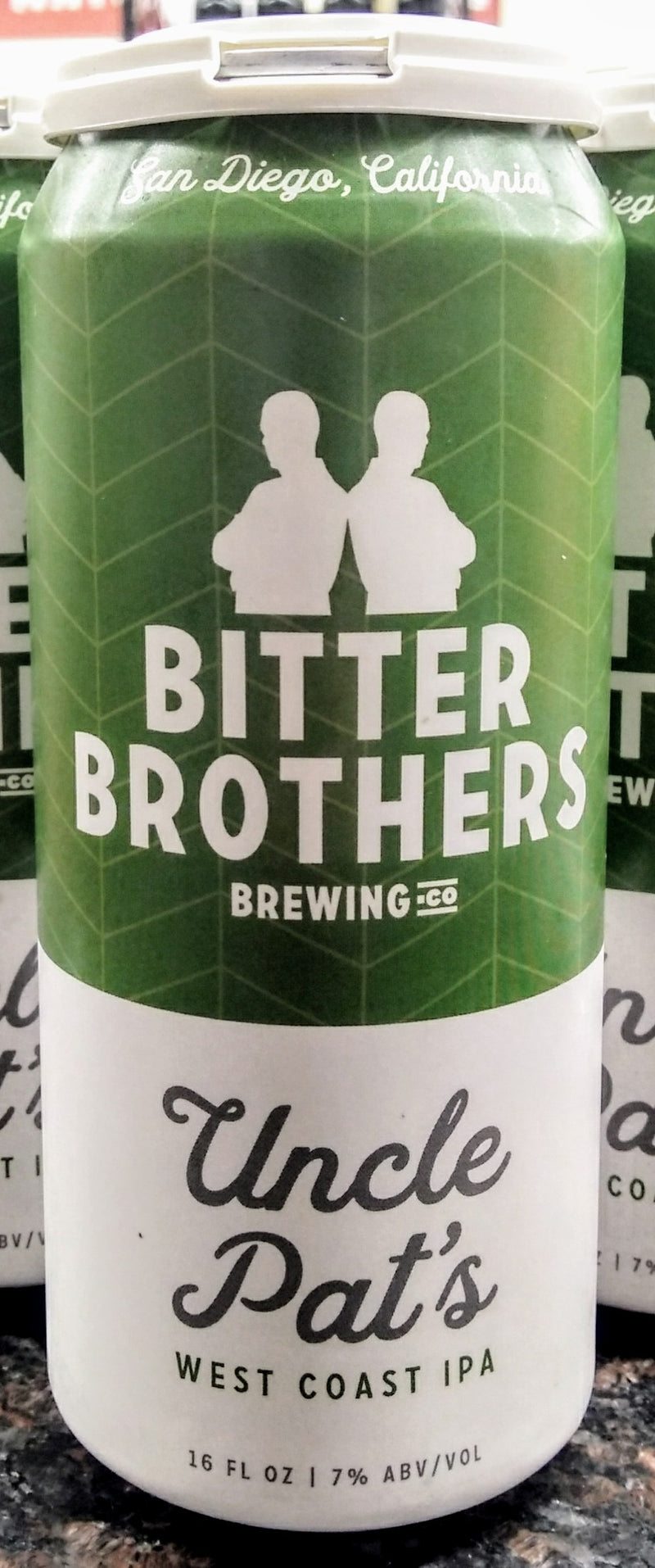 BITTER BROTHERS BREWING CO. UNCLE PAT'S WEST COAST IPA 16oz can