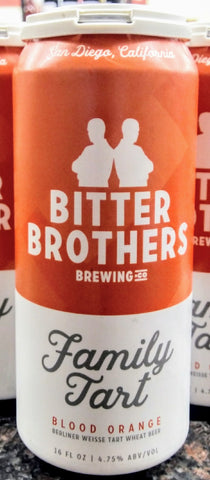 BITTER BROTHERS BREWING CO. FAMILY TART BERLINER WEISSE WHEAT ALE 16oz can