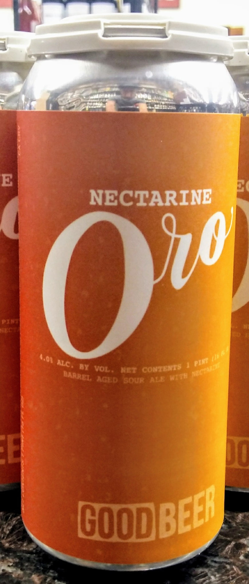 THE GOOD BEER CO. ORO NECTARINE BARREL AGED SOUR ALE 16oz can