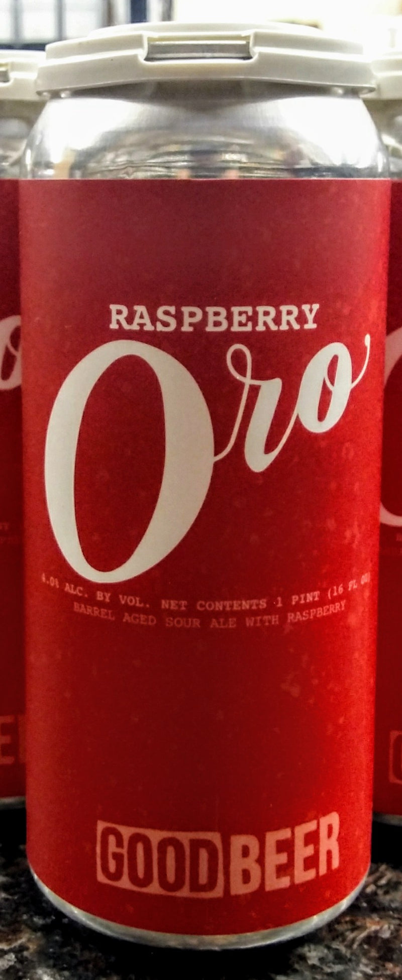 THE GOOD BEER CO. ORO RASPBERRY BARREL AGED SOUR ALE 16oz can
