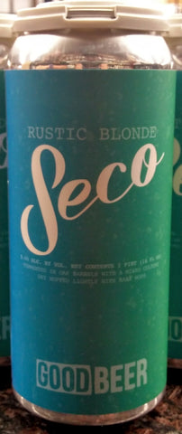 THE GOOD BEER CO. SECO RUSTIC BLONDE ALE 16oz can