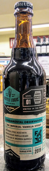 BOTTLE LOGIC BREWING 2019 FUNDAMENTAL OBSERVATION BA IMPERIAL VANILLA STOUT 500ml NO LIMIT
