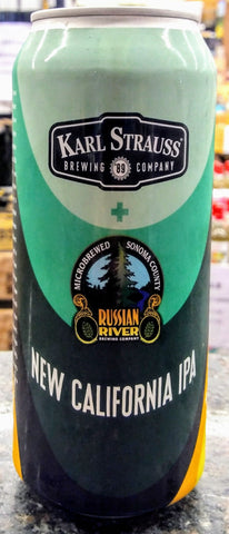 KARL STRAUSS + RUSSIAN RIVER BREWING NEW CALIFORNIA IPA 16oz can