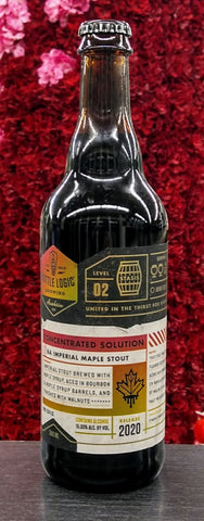 BOTTLE LOGIC BREWING 2020 CONCENTRATED SOLUTION BA IMPERIAL MAPLE STOUT 500ML (LIMIT 1)