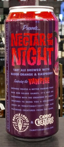 BOTTLE LOGIC BREWING NECTAR OF THE NIGHT BLOOD ORANGE AND RASPBERRY TART ALE 16oz can