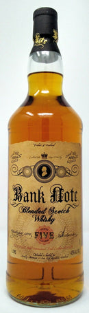BANK NOTE 5 YEAR BLENDED SCOTCH WHISKEY 1L