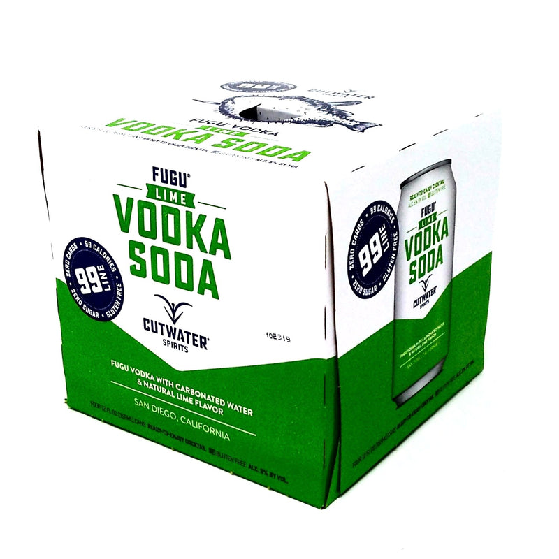 CUTWATER SPIRITS LIME VODKA SODA 4 PACK x 12oz cans