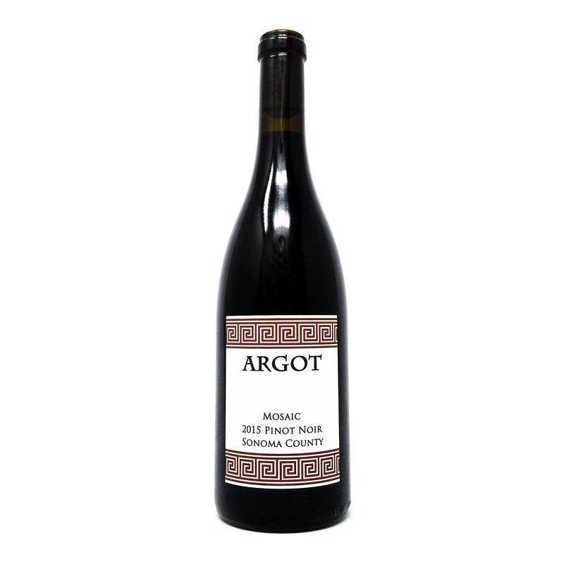ARGOT VINEYARDS 2015 MOSAIC PINOT NOIR SONOMA COUNTY WINE