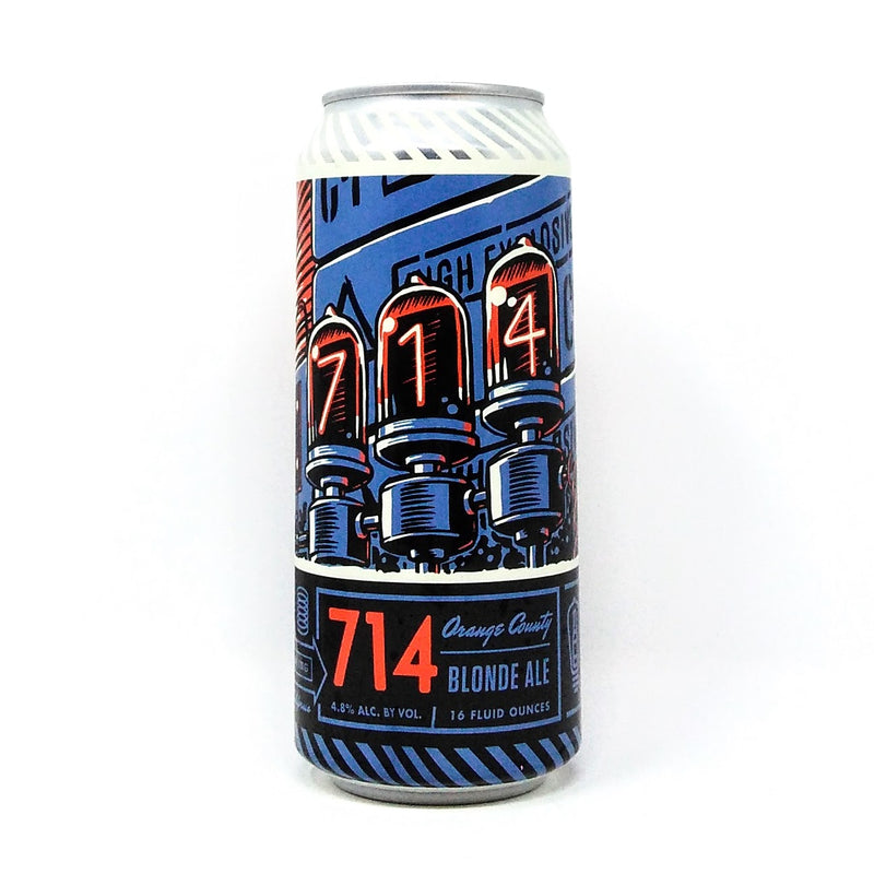 BOTTLE LOGIC BREWING 714 BLONDE ALE 16oz can
