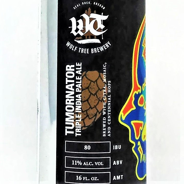 WOLF TREE BREWERY TUMORNATOR TRIPLE IPA 16oz can