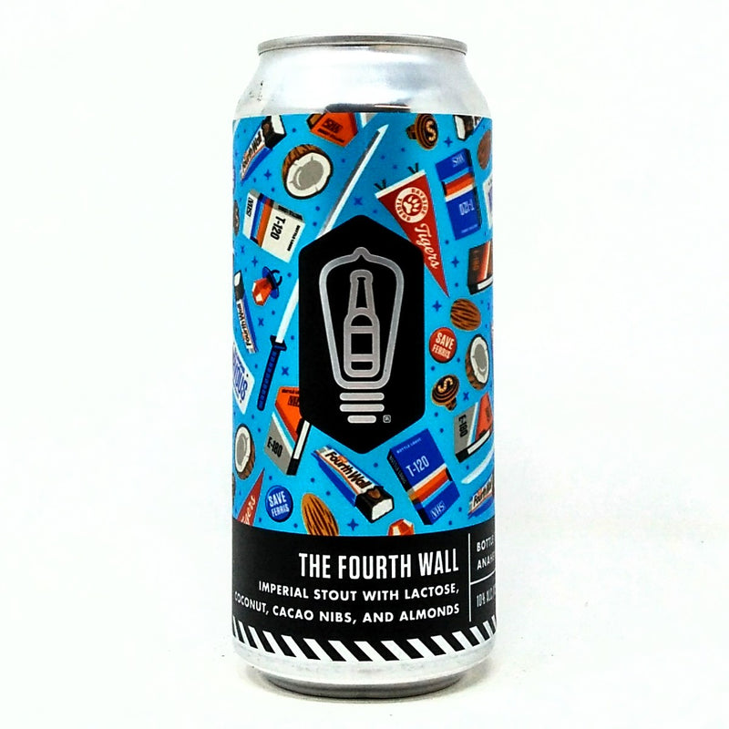 BOTTLE LOGIC BREWING THE FOURTH WALL, LACTOSE, COCONUT, CACAO, ALMONDS IMPERIAL STOUT 16oz can