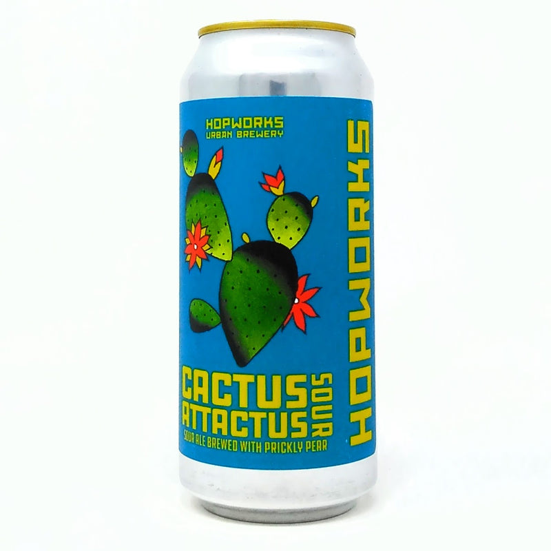 HOPWORKS URBAN BREWERY CACTUS ATTACTUS SOUR ALE 16oz can