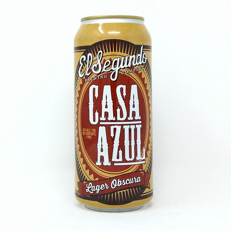 EL SEGUNDO BREWING CO. CASA AZUL LAGER OBSCURA 16oz can