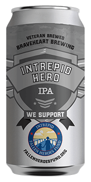 Braveheart Brewing Intrepid Hero IPA 12oz 6 PACK We Support