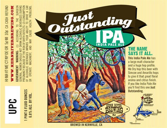 Kern River Just Outstanding IPA 22oz