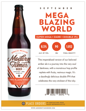 Modern Times Mega Blazing World 22oz