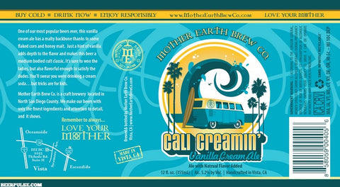 Mother Earth Cali Creamin Vanilla Cream Ale 22oz