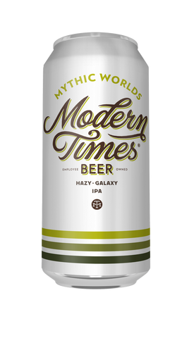 Modern Times Mythic Worlds 16oz cans HAZY