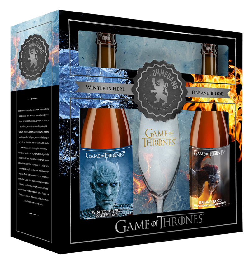 Ommegang Game of Thrones 2 Mixed 2 Pack with GOT Glassware