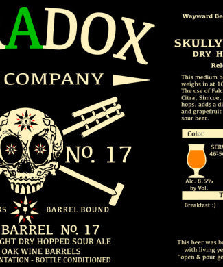 PARADOX SKULLY Barrel No. 17 500ML