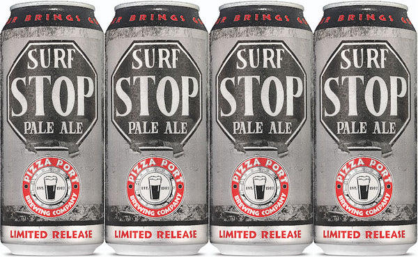 PIZZA PORT STOP SURF PALE ALE 16OZ CAN