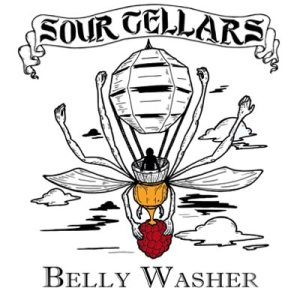 Sour Cellars Belly Washer-gold w/rasp and honey 750ml