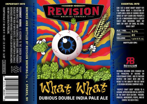 REVISION WHAT WHAT DOUBLE IPA 22OZ