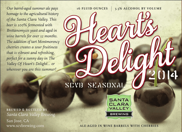 Santa Clara Valley Heart's Delight 100% Brett Sour Cherry Ale