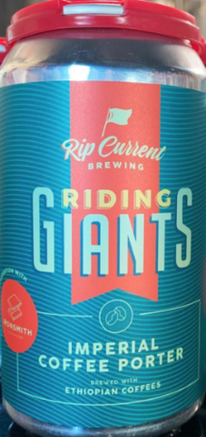RIP CURRENT BREWING RIDING GIANTS IMPERIAL COFFEE PORTER 12oz can