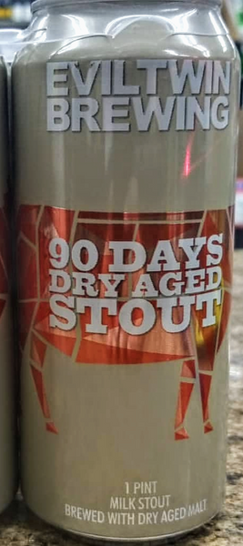 EVIL TWIN BREWING 90 DAYS DRY AGED MILK STOUT 16oz can