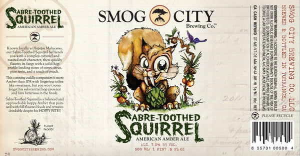 Smog City Sabre-Toothed Squirrel American Amber Ale